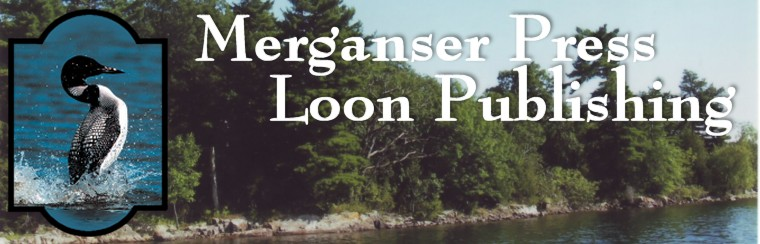 Merganser press/loon publishing logo